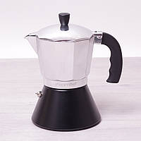 Кофеварка гейзерная индукционная 300 мл (6 чашек) из алюминия  Kamille 2510