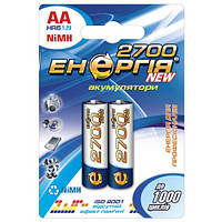 Аккумулятор Энергия HR-6 2700-C2 NiMH, АА, 2700 mAh 2шт на блистере