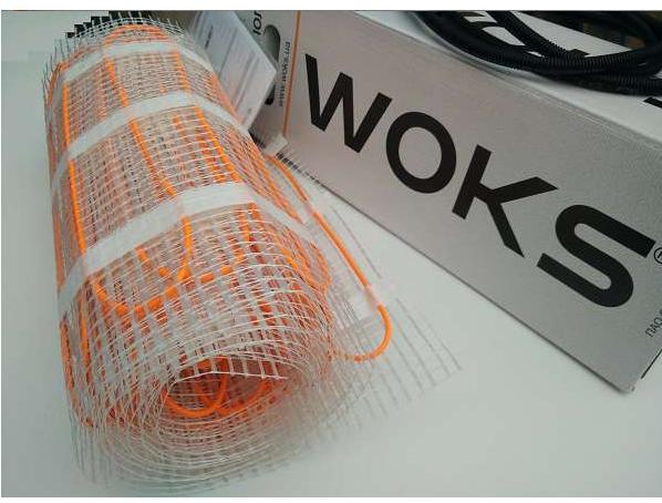 Нагревательный двужильный мат WoksMat 160 (800Вт) площадь обогрева 5,0 м²