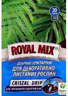 """Удобрение кристаллическое """"Для декаративно-лиственных растений"""" ТМ """"ROYAL MIX"""" 20г"""