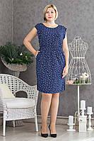 Легкое летнее платье р.48-52 V298-02