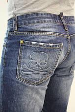 Мужские джинсовые шорты philipp plein 31, фото 3