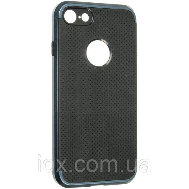 Противоударный комбинированный чехол-накладка IPAKY для Iphone 7 и Iphone 8 синий