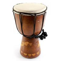 Барабан деревянный кожаный