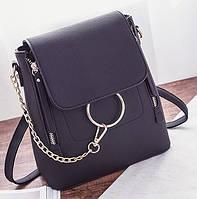 Женский стильный мини-рюкзак черный