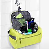 Містка жіноча чоловіча сумочка, органайзер, несесер у відпустку, дорогу, малинова, фото 4