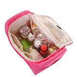 Містка жіноча чоловіча сумочка, органайзер, несесер у відпустку, дорогу, малинова, фото 3