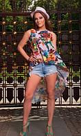 Пляжная туника с цветочным принтом