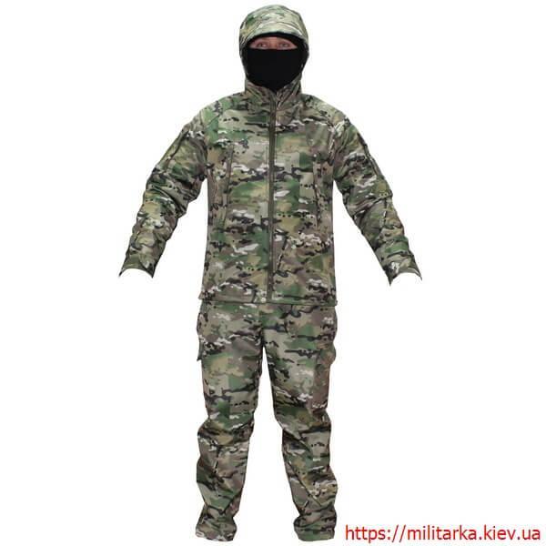 Демисезонный костюм Камо- Тек Multicam на флисе