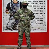 Демисезонный костюм Камо- Тек Multicam на флисе, фото 4