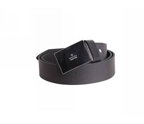 Мужской кожаный ремень черный NAVI 49100, фото 2