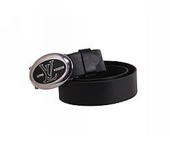 Мужской кожаный ремень черный NAVI 49103, фото 2
