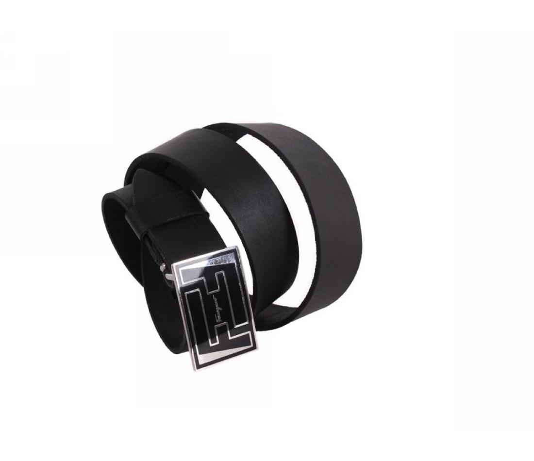 Мужской кожаный ремень черный NAVI 49107