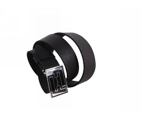 Мужской кожаный ремень черный NAVI 49107, фото 2