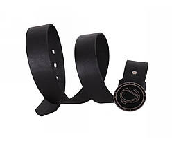 Мужской кожаный ремень черный NAVI 49110, фото 2