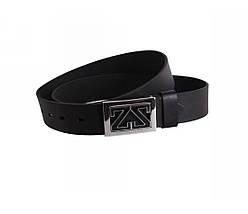 Мужской кожаный ремень черный NAVI 49111, фото 3