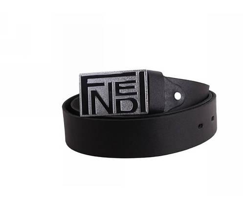 Мужской кожаный ремень черный NAVI 49112, фото 2