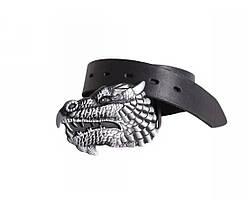 Мужской кожаный ремень черный NAVI 49144, фото 3
