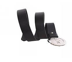Мужской кожаный ремень черный NAVI 49155, фото 3