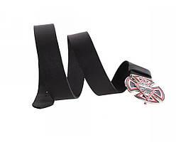 Мужской кожаный ремень черный NAVI 49159, фото 3