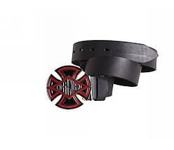 Мужской кожаный ремень черный NAVI 49159, фото 2