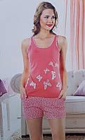 Пижама женская шорты и майка большого размера