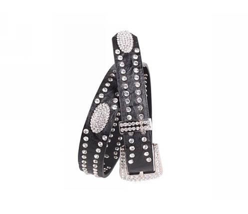 Женский кожаный ремень черный NAVI 49189, фото 2