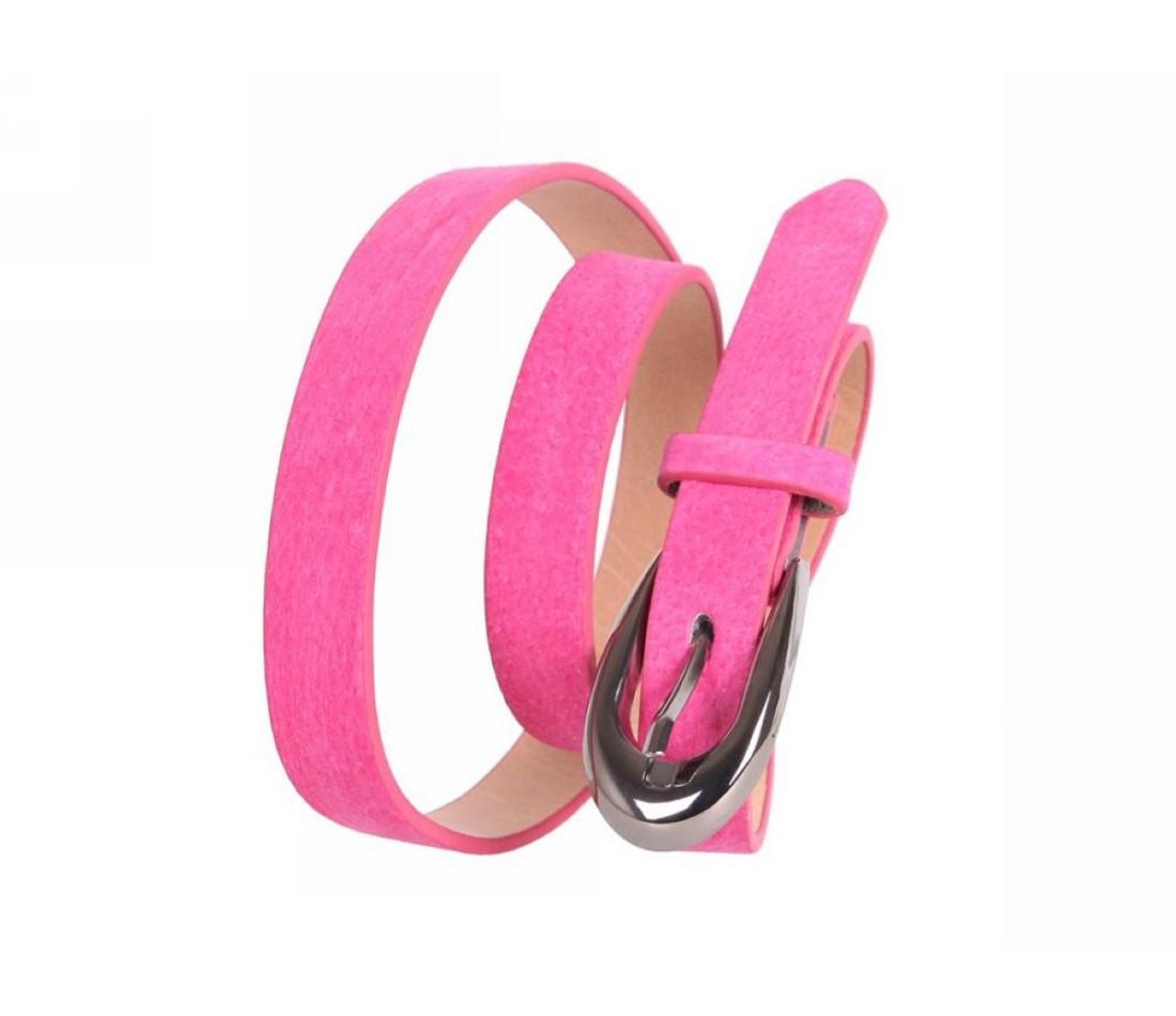 Женский ремень замша розовый NAVI 49170