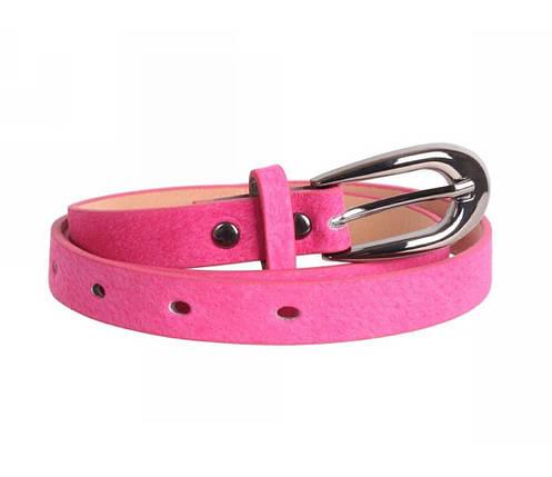 Женский ремень замша розовый NAVI 49170, фото 2
