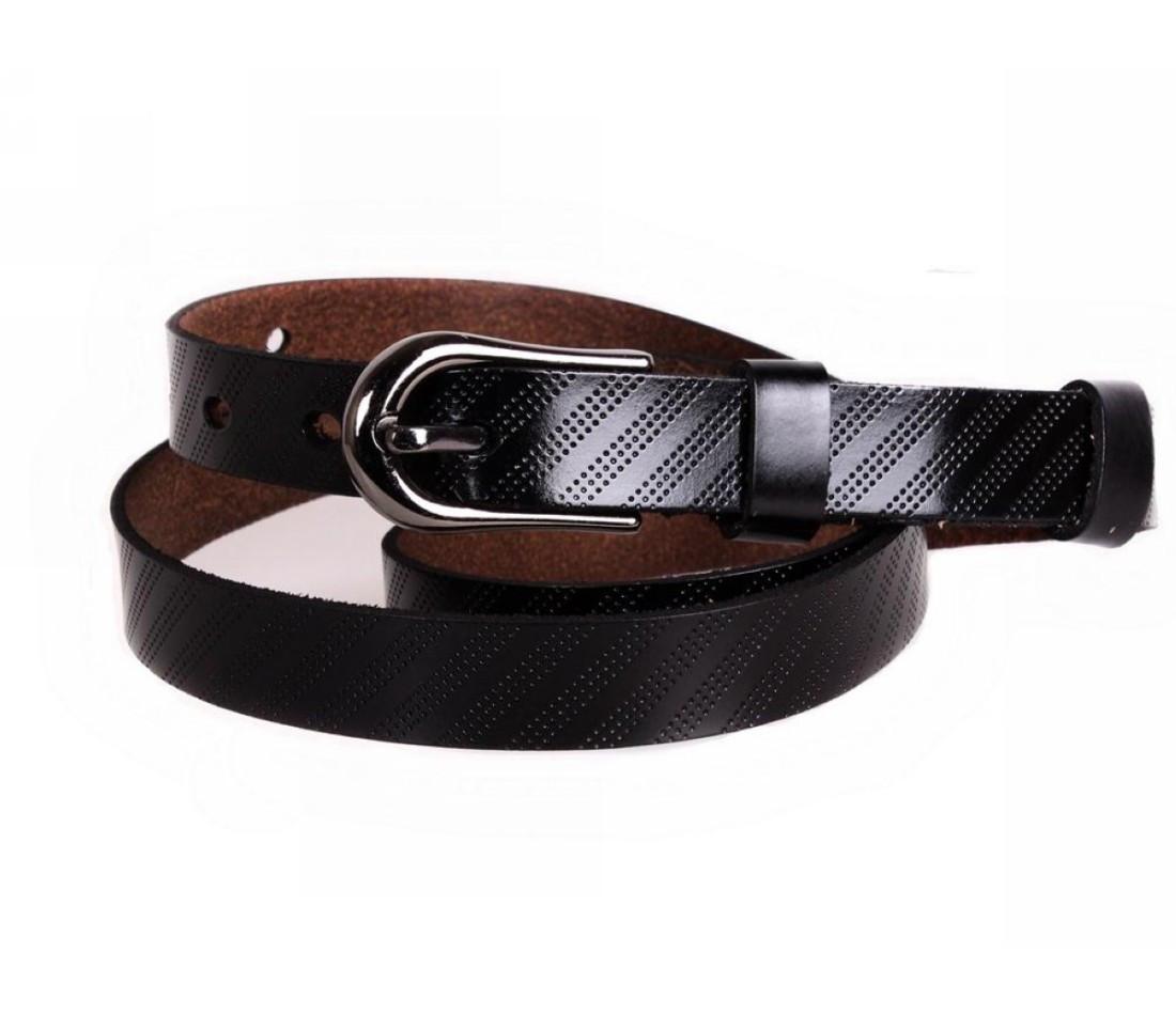 Женский кожаный ремень черный NAVI 6442