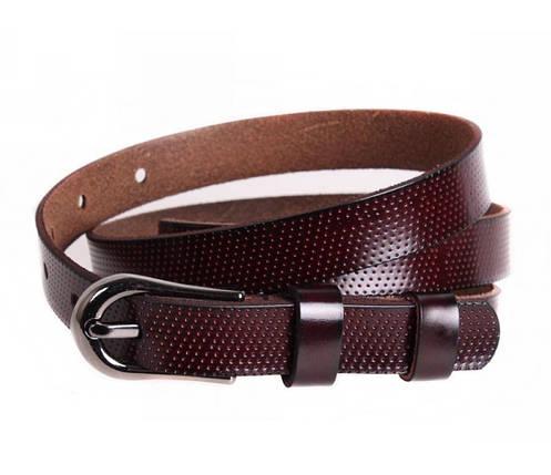 Женский кожаный ремень бордовый NAVI 6501, фото 2