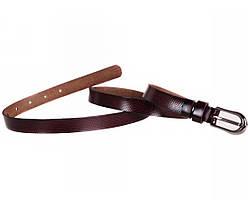 Женский кожаный ремень бордовый NAVI 6501, фото 3