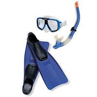 Набор для плавания маска, трубка, ласты Intex 55957: 38-40 размера