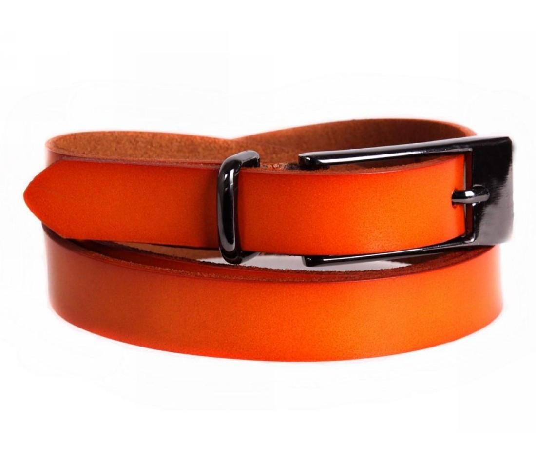Женский кожаный ремень оранжевый NAVI 6587