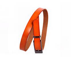 Женский кожаный ремень оранжевый NAVI 6587, фото 2