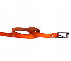 Женский кожаный ремень оранжевый NAVI 6587, фото 3