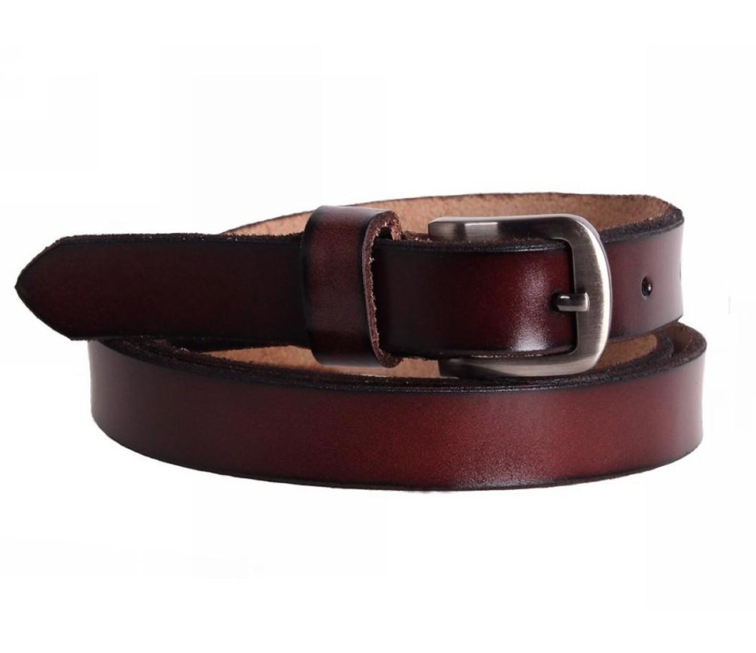 Женский кожаный ремень бордовый NAVI 6616