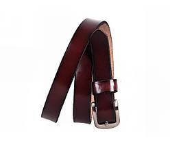 Женский кожаный ремень бордовый NAVI 6616, фото 2