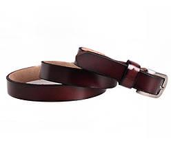 Женский кожаный ремень бордовый NAVI 6616, фото 3