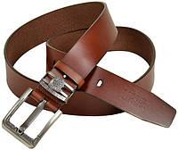 Мужской кожаный коричневый ремень Diesel ДхШ: 130х4 см C322-1 brown