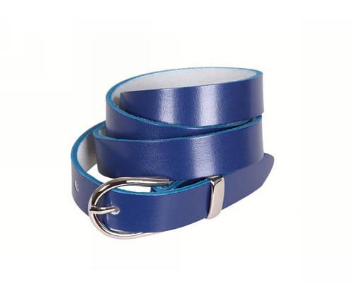 Женский кожаный ремень синий NAVI 220735, фото 2