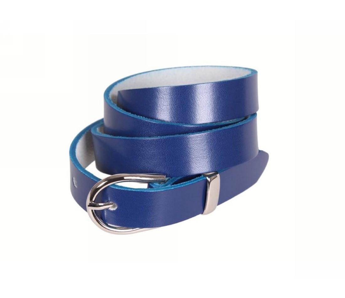 Женский кожаный ремень синий NAVI 220735