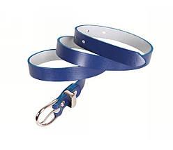 Женский кожаный ремень синий NAVI 220735, фото 3