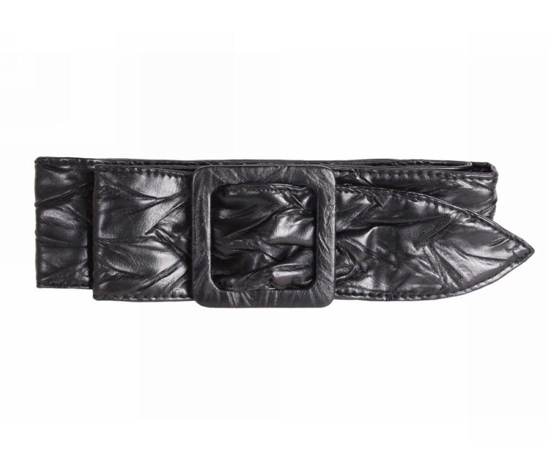 Женский ремень ткань черный NAVI 222625