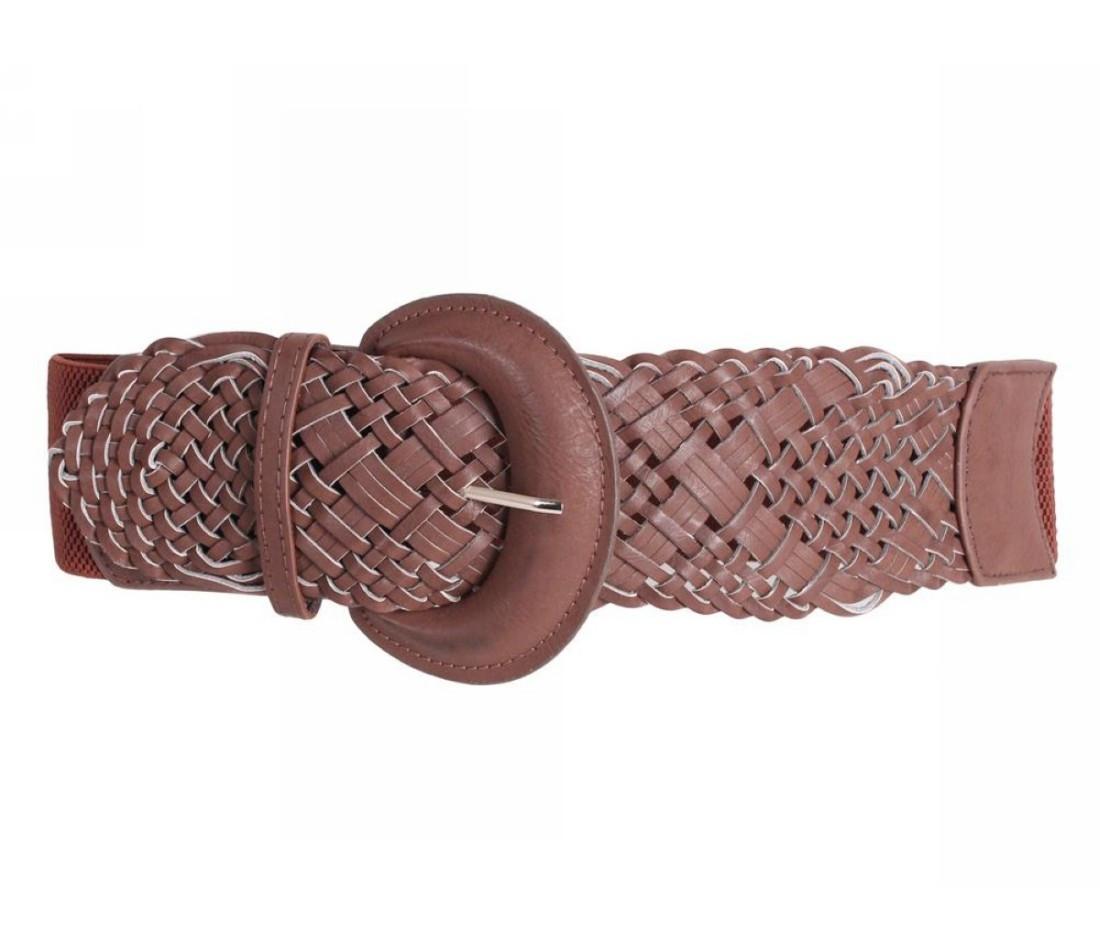 Жіночий пояс тканина рудий NAVI 222629