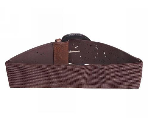 Женский ремень ткань бордовый NAVI 222635, фото 2
