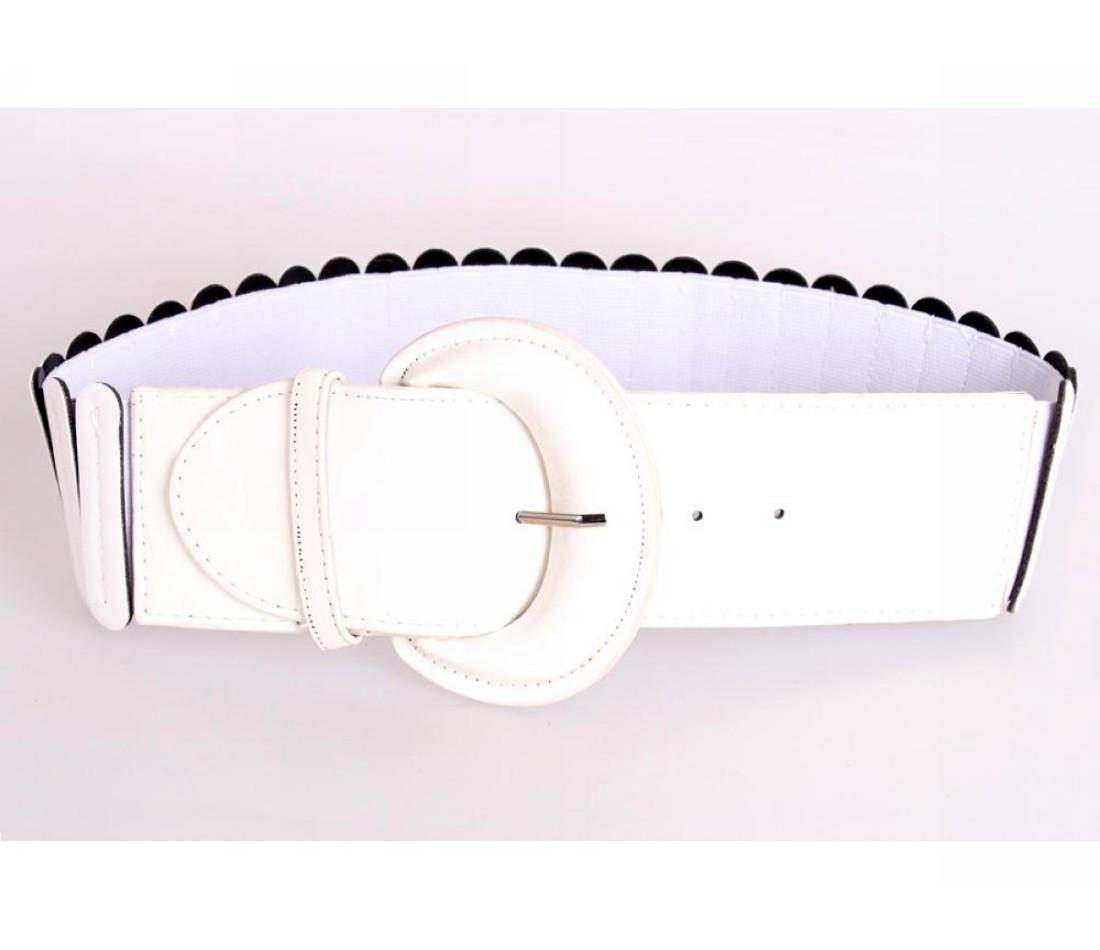 Жіночий пояс тканина білий NAVI 222637