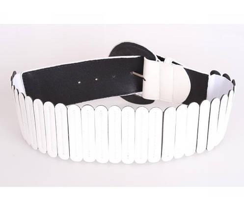 Жіночий пояс тканина білий NAVI 222637, фото 2