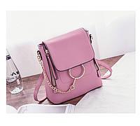 Женский стильный мини-рюкзак сиреневый