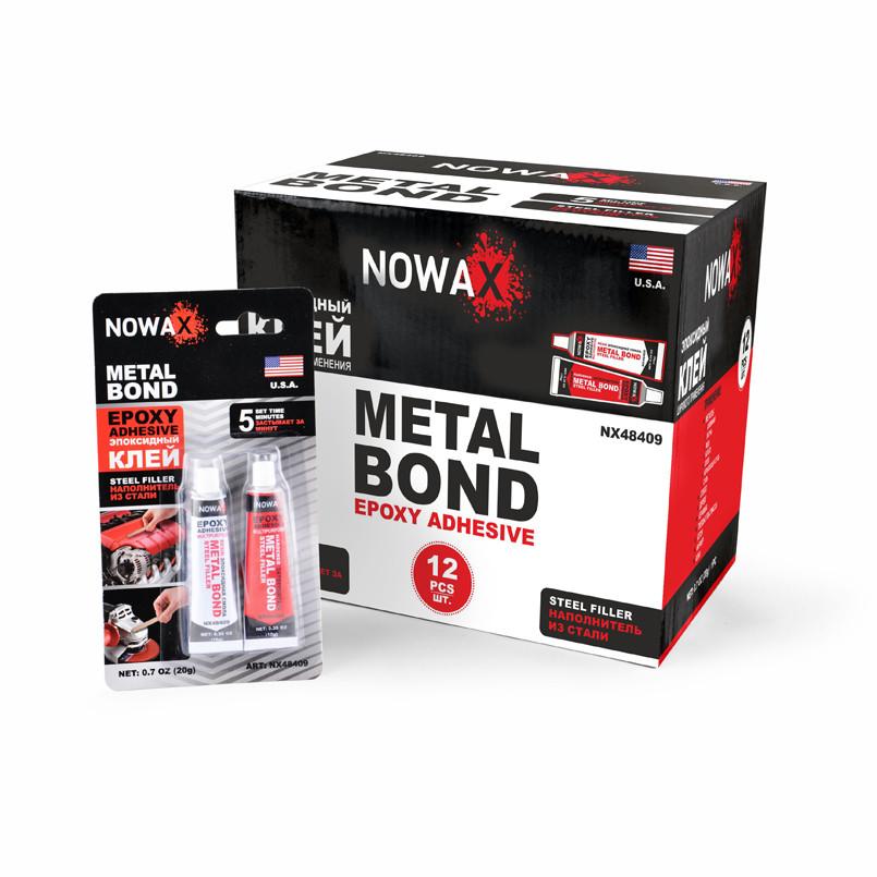 Клей эпоксидный Nowax NX48409 стальной